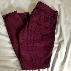 LUCKY BRAND | purple charlie skinny jeans